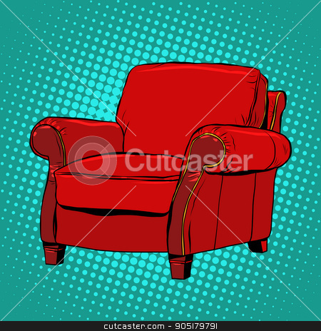 Fabulous Red Armchair Furniture Vector Stock Vector Home Interior And Landscaping Ologienasavecom