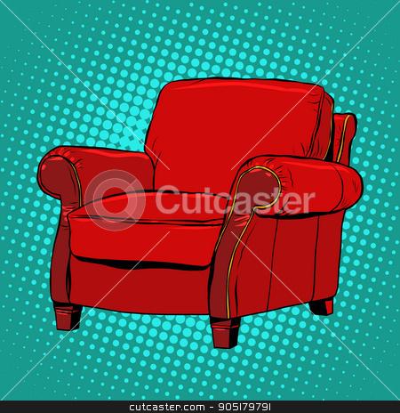 Terrific Red Armchair Furniture Vector Stock Vector Home Interior And Landscaping Mentranervesignezvosmurscom