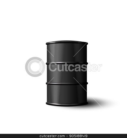 Black Metal Barrel of Oil Isolated on White Background stock vector clipart, Illustration Black Metal Barrel of Oil Isolated on White Background - Vector by -=Mad Dog=-