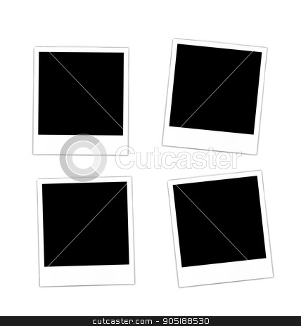 Collection photo frame  stock vector clipart, Set collection four photos frame for design scrapbook space for your text - vector by -=Mad Dog=-
