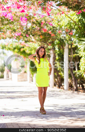 Portrait of a beautiful young Caucasian woman outdoor stock photo, A portrait of a beautiful young Caucasian woman outdoor by Satura86
