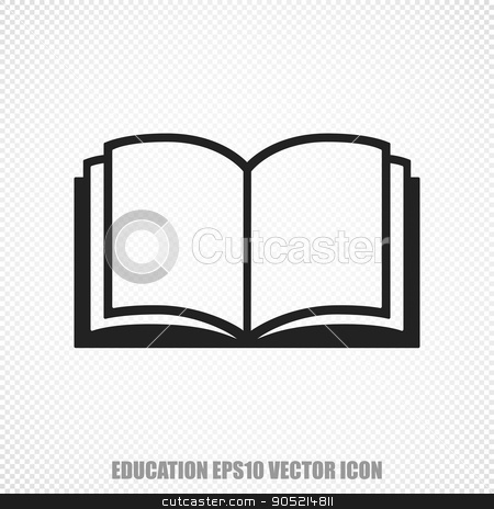 Modern book. Learning vector icon flat