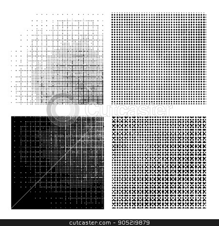Set of Dotted Textures. stock vector clipart, Set of Dotted Textures on White Background. Halftone Pattern Collection. by valeo5