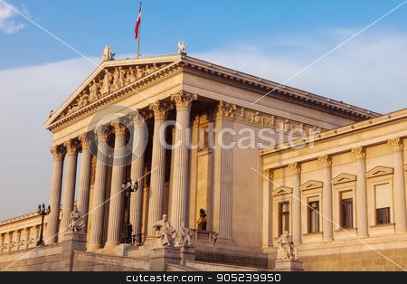 Parliament of Austria in Vienna stock photo, Parliament of Austria in Vienna in the morning. Vienna, Austria. by Henryk Sadura