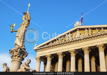 Parliament of Austria in Vienna stock photo, Parliament of Austria in Vienna. Vienna, Austria. by Henryk Sadura