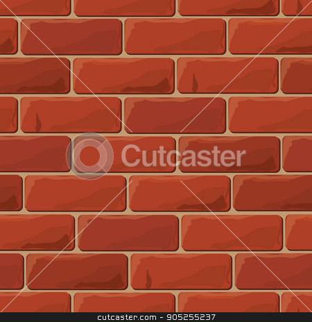 Background brick wall seamless stock vector clipart, Background brick wall seamless. Vector illustration background - texture pattern for continuous replicate. by Aleksandra Serova