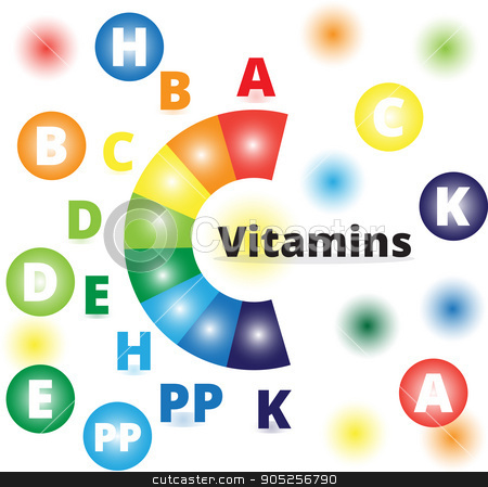 Vector colorful vitamins stock vector clipart, Vector colorful set of the rainbow colored bubble vitamins, eps10 by olinchuk