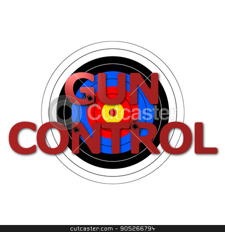 Target Gun Control stock photo, Target background with the writing Gun Control over it. by Henrik Lehnerer