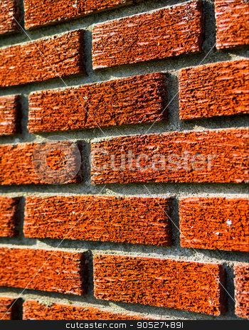 Red brick wall texture perspective stock photo, Red brick wall texture perspective by spacedrone808