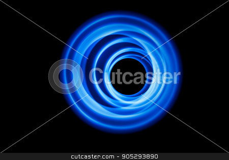 Sound waves in the dark stock photo, Neon sound waves. Music round background of a form of a wave by Dmitry Steshenko