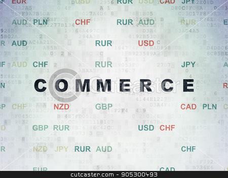 Finance concept: Commerce on Digital Data Paper background