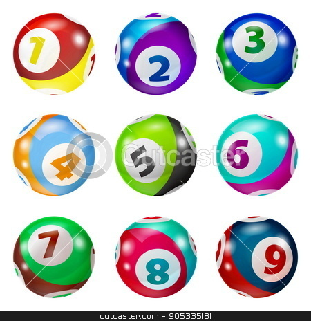Set of Lottery Colored Number Balls stock vector clipart, Vector Colorful Bingo. Lottery Number Balls. Colored balls isolated. Bingo ball. Bingo balls with numbers. Set of colored balls. by Sid10