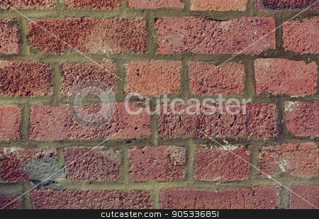 red brick wall texture stock photo, brickwork, backgrounds and textures concept - red brick wall by Syda Productions