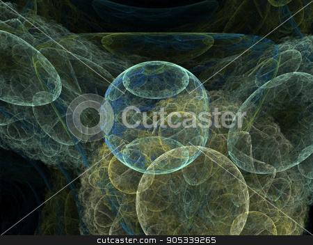 Microbes isolated on black background, 3D illustration stock photo, Microbes isolated on black background by Dariusz Miszkiel
