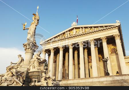 Parliament of Austria in Vienna stock photo, Parliament of Austria in Vienna. Vienna, Austria. by Henryk Sadura