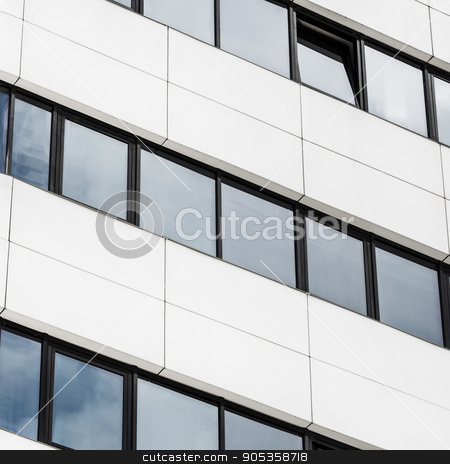 Close-up of modern building stock photo, Close-up fragment of modern office building of steel and glass. Abstract modern architecture. Close-up of modern business skyscraper. by Veresovich