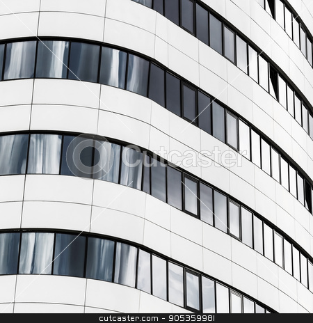 Fragment of modern building stock photo, Fragment of modern architecture. Close-up view of the modern building. Modern business industrial architecture. by Veresovich