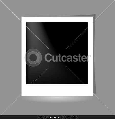 Template Photo Frame Design on Grey Background. stock vector clipart, Template Photo Frame Design. Photo frame on Grey Background. by valeo5
