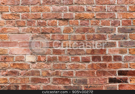 close up of red brick wall background stock photo, brickwork, masonry, building and textures concept - close up of red brick wall background by Syda Productions