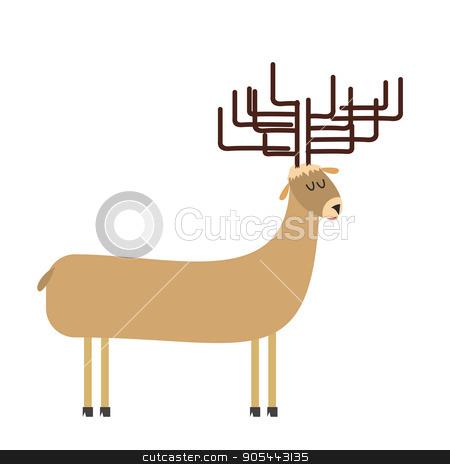 deer cartoon. Vector illustration stock vector clipart, deer cartoon. Vector illustration by Popaukropa