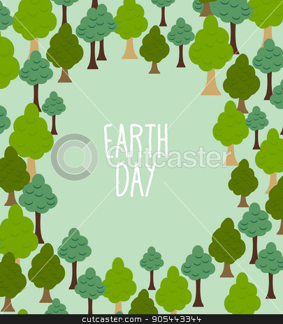 forest pattern. Background of trees. Earth day Template with spa stock vector clipart, forest pattern. Background of trees. Earth day Template with space for text by Popaukropa
