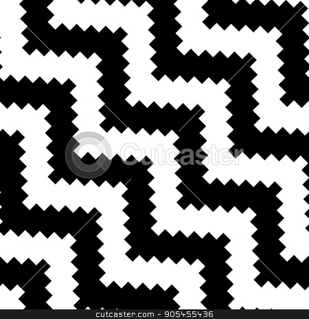 Abstract Seamless Pattern stock vector clipart, Seamless wave pattern, linear design - vector illustration by CreatorsClub