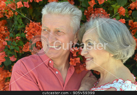 happy mature couple  stock photo, happy mature couple in romantic photo session by Ruslan Huzau