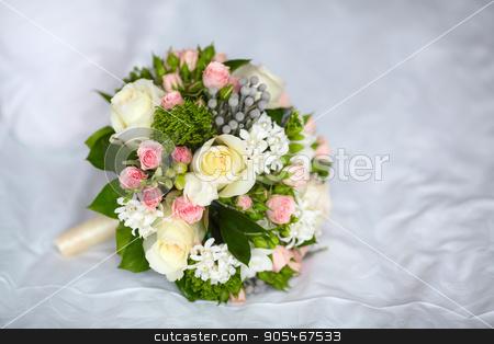 Close up of beautiful wedding bouquet stock photo, Close up of beautiful bridal wedding bouquet by HDesert