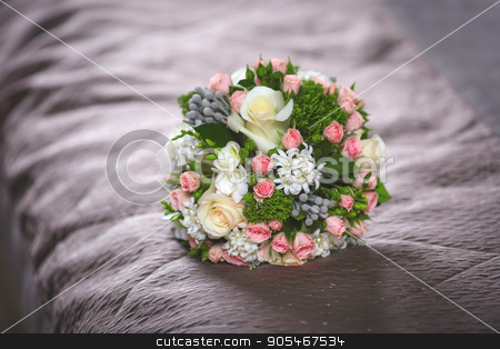 Close up of beautiful wedding bouquet stock photo, Close up of beautiful bridal wedding bouquet by HDesert