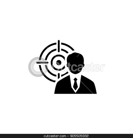 Business Goals Icon. Flat Design. stock vector clipart, Business Goals Icon. Business Concept. Flat Design. Isolated Illustration. by Vadym Nechyporenko