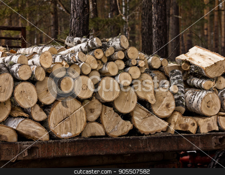 stack of natural wooden logs. pile wood cut background stock photo, stack of natural wooden logs. wood cut background by Alexander