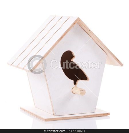 bird house isolated stock photo, bird house isolated on a white background by serkucher