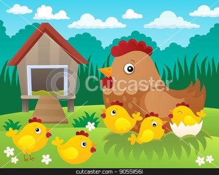 Chicken topic image 2 stock vector clipart, Chicken topic image 2 - eps10 vector illustration. by Klara Viskova