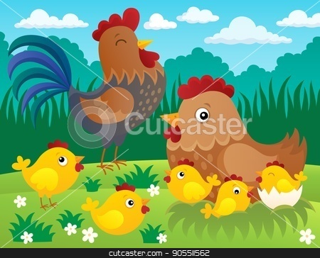 Chicken topic image 3 stock vector clipart, Chicken topic image 3 - eps10 vector illustration. by Klara Viskova