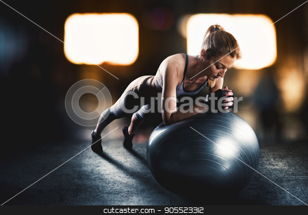 Workout with fitness ball