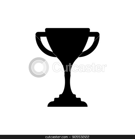 Winner cup icon stock vector clipart, Winner trophy cup icon. Sport competition silhouette symbol by Rokvel