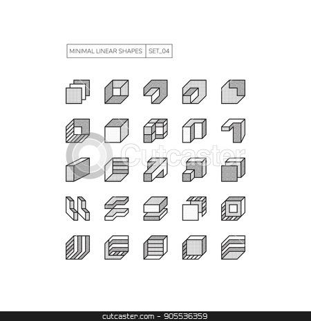 Geometric Shapes stock vector clipart, Set 25 Set 25 geometric shapes. Line design elements. Minimal vector illustration Line design elements. Minimal vector illustration by Ivan Kamzyst