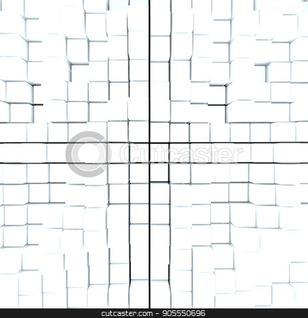 Abstract background from white cubes stock photo, Abstract background from white cubes. 3D rendering by cherezoff