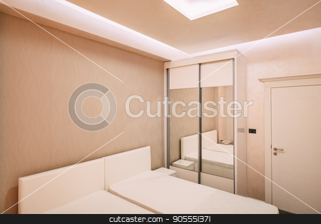 Wardrobe in the apartment stock photo, Wardrobe in the apartment. Interior design bedroom by Nadtochiy