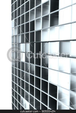 Abstract background from cubes stock photo, Abstract background from cubes. Light between cubes. 3D rendering by cherezoff