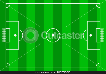 Soccer field. Top view stock vector clipart, Top view of soccer field or football field - Vector illustration by Rokvel