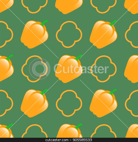 Fresh Green Seamless Pattern stock vector clipart, Fresh Green Seamless Pattern on Green Background by valeo5