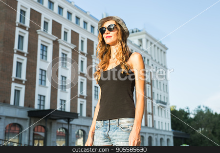 7a7c27a6862 Similar images  Summer sunny lifestyle fashion portrait of young stylish  hipster woman walking on the street ...