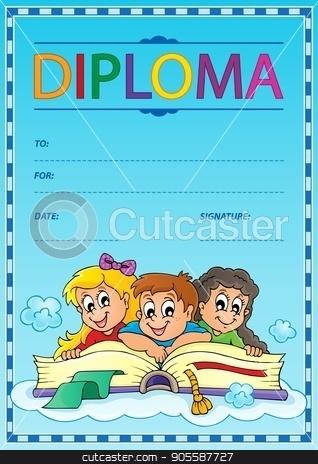 Diploma thematics image 6 stock vector clipart, Diploma thematics image 6 - eps10 vector illustration. by Klara Viskova
