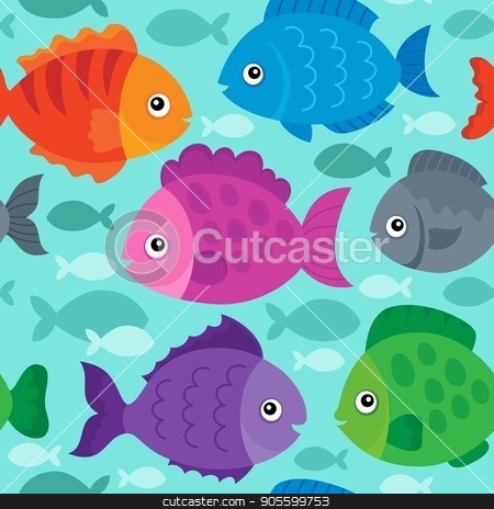 Seamless background stylized fishes 1 stock vector clipart, Seamless background stylized fishes 1 - eps10 vector illustration. by Klara Viskova