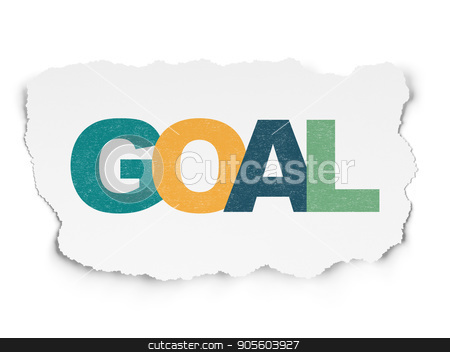 Marketing concept: Goal on Torn Paper background stock photo, Marketing concept: Painted multicolor text Goal on Torn Paper background by mkabakov