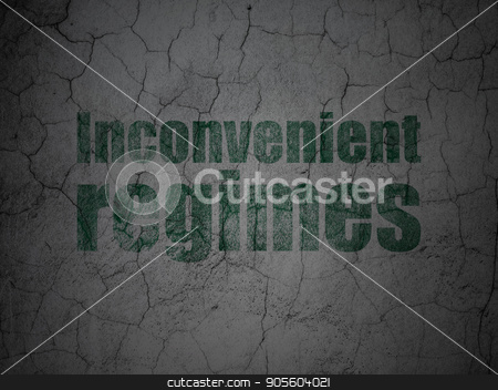 Political concept: Inconvenient Regimes on grunge wall background stock photo, Political concept: Green Inconvenient Regimes on grunge textured concrete wall background by mkabakov