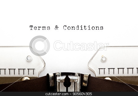 Terms And Conditions On Typewriter stock photo, Terms and Conditions headline printed on old typewriter. by Ivelin Radkov