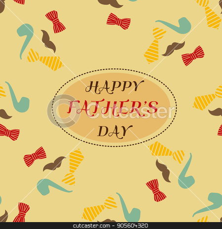 Retro style  greeting card for Father's Day stock vector clipart, Retro style design greeting card for Father's Day by danceyourlife