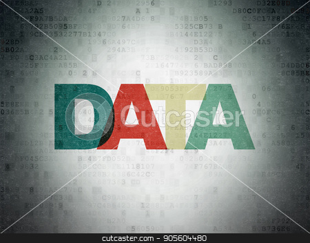 Information concept: Data on Digital Data Paper background stock photo, Information concept: Painted multicolor text Data on Digital Data Paper background by mkabakov
